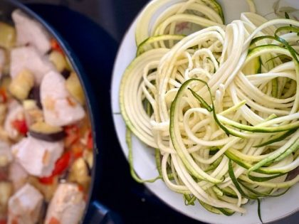 Špageti od tikvica i pureći medaljoni